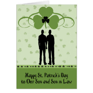 St. Patrick's Day Card for Son & Son in Law