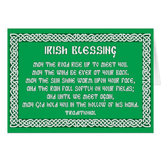 St Patrick's Day Card with Irish Blessing 1