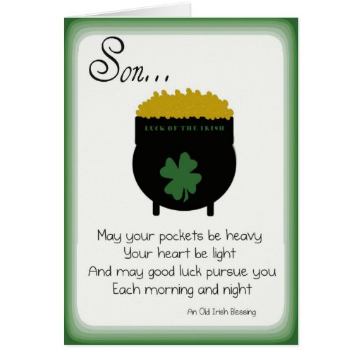 St. Patrick's Day Cards for Son