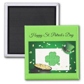 St Patrick's day cash shamrock gold magnet