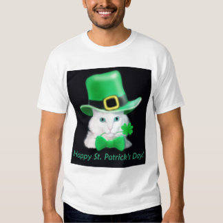 St Patrick's Day Cat T-Shirt