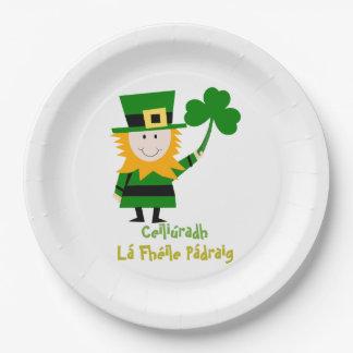 ST PATRICKS DAY CELEBRATION, IRISH GAELIC PLATE