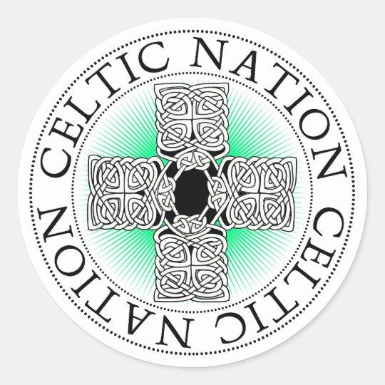 St. Patricks Day Celtic Cross Stickers
