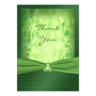 St. Patrick's Day Celtic Love Knot Thank You Card 13 Cm X 18 Cm Invitation Card