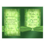 St. Patrick's Day Celtic Love Knot Wedding Program Flyer Design