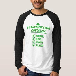 St. Patrick's Day Checklist T-Shirt