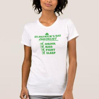 St. Patrick's Day Checklist T-shirts