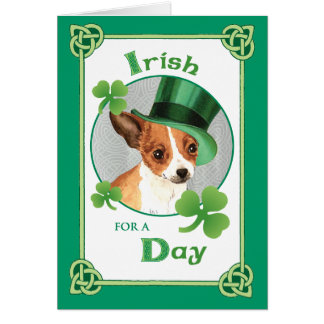 St. Patrick's Day Chihuahua Greeting Card