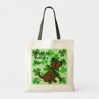 St. Patrick's Day Chocolate Labrador Tote Bag