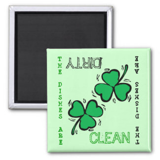 St. Patrick's Day  Clean Dirty Dishwasher Magnet
