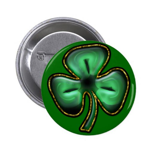 St. Patrick's Day Clover Button