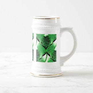 St. Patrick's Day clover: design on three sides Beer Steins