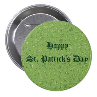 St. Patrick's Day Clover Leaf Button