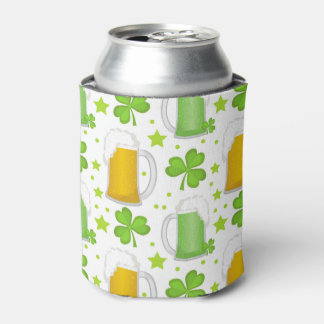 St. Patrick's Day clover pattern Can Cooler