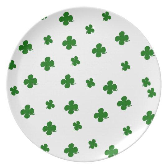St. Patricks day clover pattern Plate