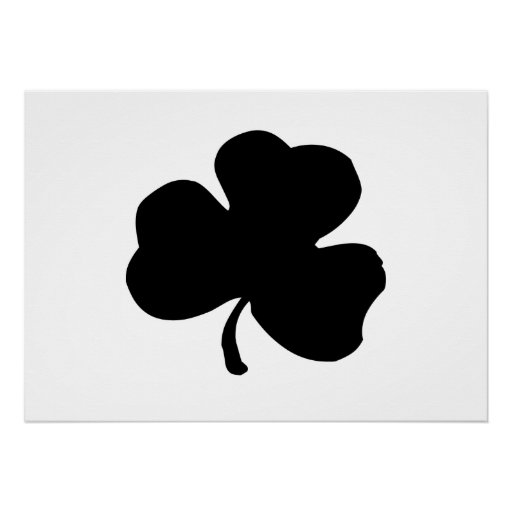 St. Patrick's Day Clover Posters