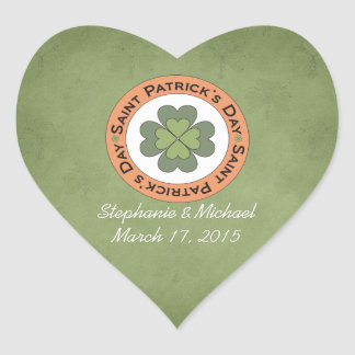 St Patrick's Day Clover Stamp Wedding Stickers