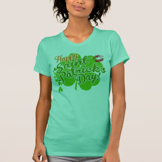 St Patrick's Day Clovers and Kisses T-Shirt