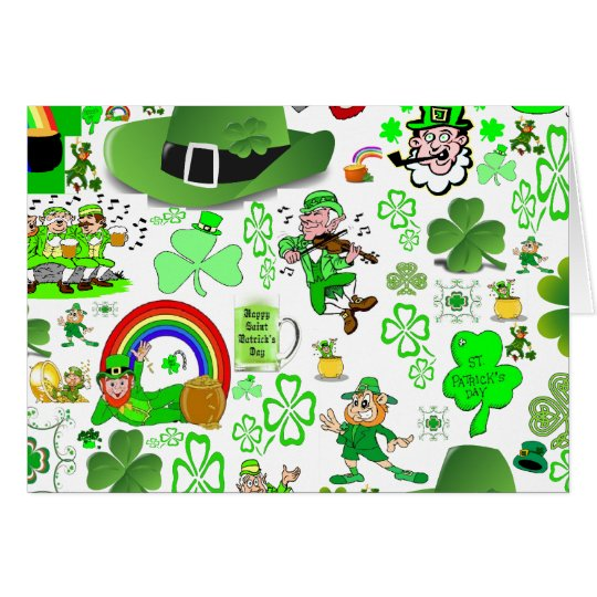 St Patrick's Day Collage Card