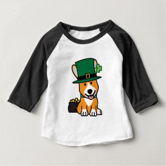 St. Patrick's Day Corgi Leprechaun Dog Puppy Doggy Baby T-Shirt