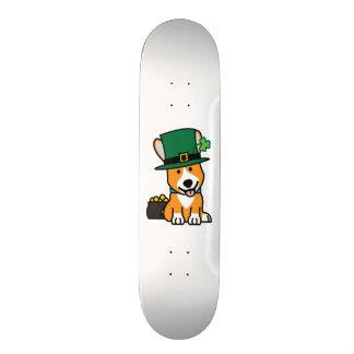 St. Patrick's Day Corgi Leprechaun Dog Puppy Doggy Custom Skate Board