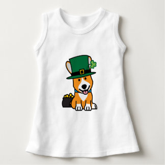 St. Patrick's Day Corgi Leprechaun Dog Puppy Doggy Dress