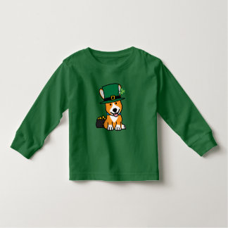 St. Patrick's Day Corgi Leprechaun Dog Puppy Doggy Toddler T-Shirt
