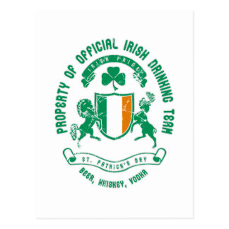 St. Patrick's day crest Postcards