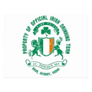 St. Patrick's day crest Postcard