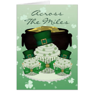 St. Patrick's Day Cupcake Across The Miles Card