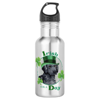 St. Patrick's Day Curly-Coated Retriever 532 Ml Water Bottle