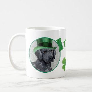 St. Patrick's Day Curly-Coated Retriever Coffee Mug