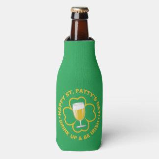 St. Patrick's Day custom name bottle cooler