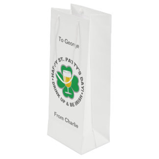 St. Patrick's Day custom text gift bag