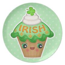 St. Patrick's Day Cute Irish Cupcake Plate