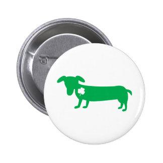 St. Patrick's Day Dachshund 6 Cm Round Badge