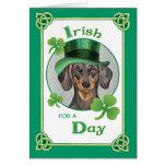 St. Patrick's Day Dachshund Greeting Card