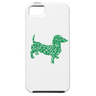 St. Patrick's Day Dachshund Tough iPhone 5 Case
