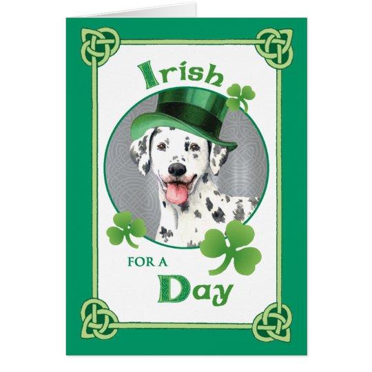 St. Patrick's Day Dalmatian Card