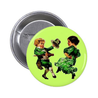 St. Patrick's Day Dancing Child Couple 6 Cm Round Badge