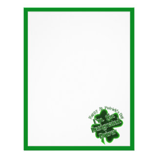 St Patrick's Day Designated Driver Personalized Flyer