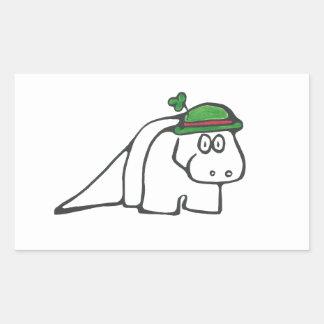 St. Patrick's Day Dinosaur Rectangular Sticker