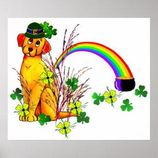 St. Patrick's Day Dog Print