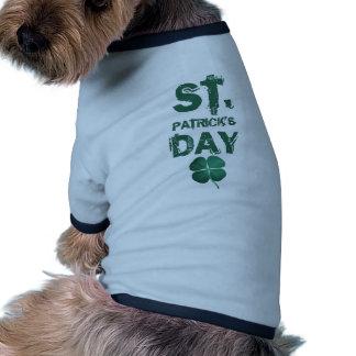st patricks day pet tee shirt