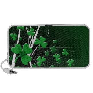 St Patrick's Day Doodle Travelling Speaker