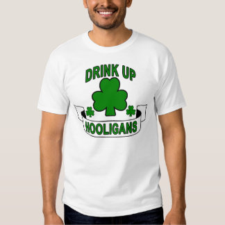 St Patrick's Day Drink Up Hooligans.png Shirt