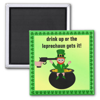 St Patrick's Day Drink Up Square Magnet