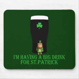 St Patrick's Day drinking Mouse Pad