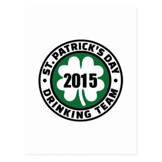 St. Patrick's day drinking team 2015 Postcards