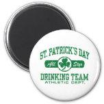 St. Patrick's Day Drinking Team 6 Cm Round Magnet